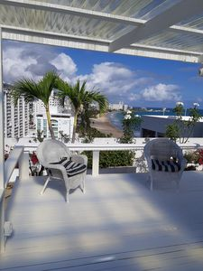 Photo for On Beach, private garden penthouse, 2 beach view Bedrooms, free parking, WIFI