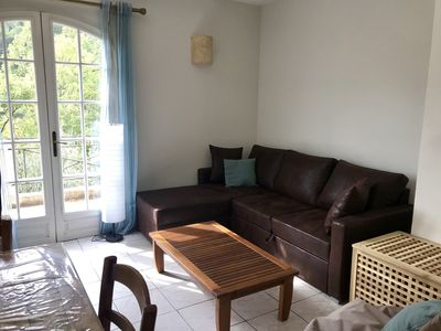 Photo for Near Nice, Large studio on the ground floor of a villa, jacuzzi access