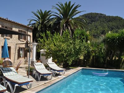 Photo for Rustic traditional villa with private pool and garden in Pollença