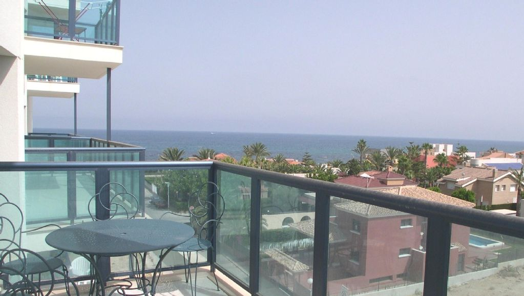 Torrevieja Apartment Rental   Sea View From The Balcony