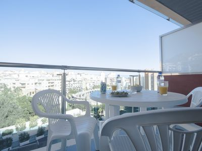 Photo for Apartment with 2 bedrooms, 6 pax, pool, to 100m. shopping-center, 400m. beach