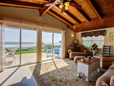 Photo for Beachfront Home! Private Beach Access-2 Miles to Hard Rock/ Boardwalk - Outdoor Shower and Free Wifi