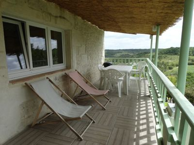 Photo for white stone cottage in the countryside, with swimming pool. Magnificent view