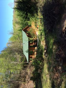 Photo for Cedar Cabin with mountain views, small stream beside cotta
