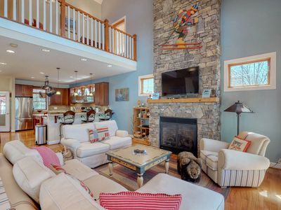Photo for Lakefront home w/ firepit, dock & wrap-around porch - close to lake activities!