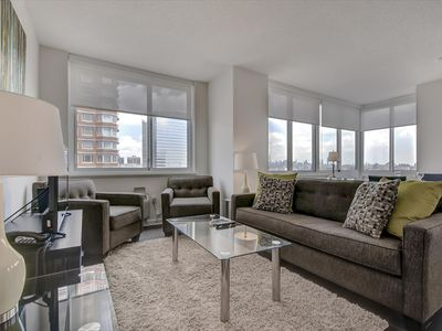 Photo for Spacious & Modern 2BR | Full Kitchen + Laundry | Jersey City Waterfront