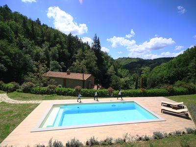Photo for Detached Tuscany natural stone house in a secluded location with private pool, barbecue, W-LAN