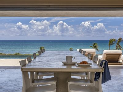 Photo for Stunning Eco-Luxury Villa on Caribbean Sea Featuring 94 Foot Pool, Sleeps 16