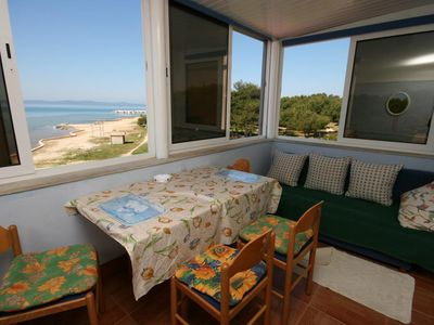 Photo for Studio flat with terrace and sea view Privlaka (Zadar)