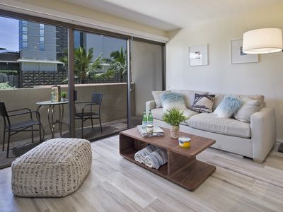 Photo for Fully renovated 1 Bedroom at Four Paddle Waikiki w/ free parking and wifi