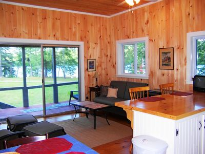 Photo for Gorgeous Lake Front, Sandy Beach, Spacious Grounds, Family and Pet Friendly
