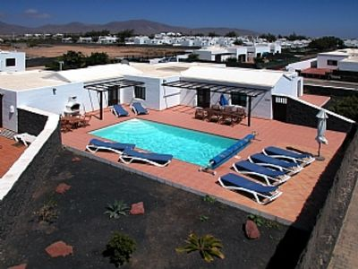 Photo for 5 mins walk to Beach; Private Heated Pool; Stunning Volcanic Views; 4 beds