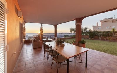Photo for Beautiful Villa, stunning views, pool, golf course, perfect location.