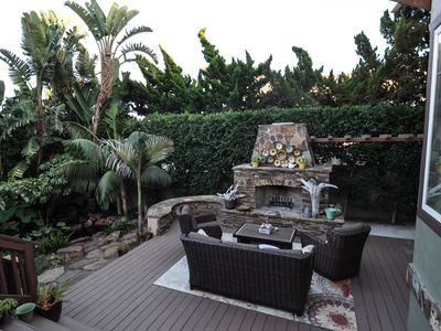 Photo for Outdoor Oasis w/ Koi pond - steps to the sand, walk to town, sleeps 8, AC