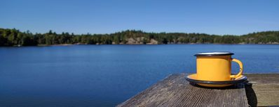 Crow Bay Cottage. Enjoy your morning coffee with a view.