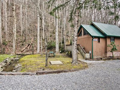 Photo for Cosby Cabin on Creek w/ Hot Tub in Smoky Mountains