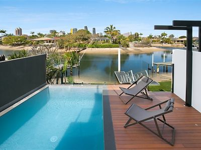 Photo for DESIGNER WATERFRONT HOME WITH ROOFTOP DECK & 360 DEGREE VIEWS!