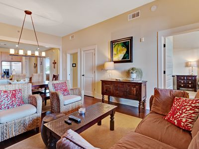 Photo for Stunning condo w/ a furnished balcony, shared pools & convenient beach access