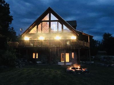 Photo for Luxury Log Cabin Retreat on 20 private acres w/ Views of Mt Washington