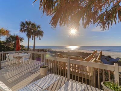 Photo for Oceanfront Folly Beach Cottage w/Large Porch & Sunroom - Stellar Reviews!