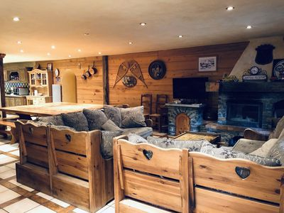Photo for Beautiful Savoyard chalet in stones and wood, ideal for families or groups