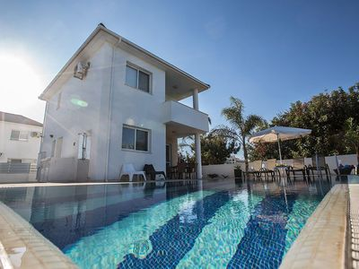 Photo for Villa Anthinas Tria - Stylish 3 Bedroom Pernera Villa with Pool - Close to the Beach