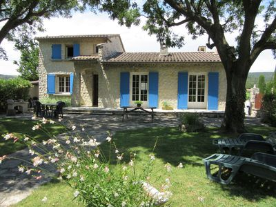Photo for VILLA GARDEN with charming, near Vaison La Romaine, in the HEART of PROVENCE