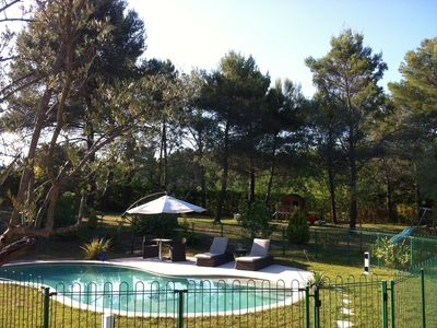 Photo for Quiet Family Friendly Villa In Tourrettes With Fenced Pool, Swings, Playhouse