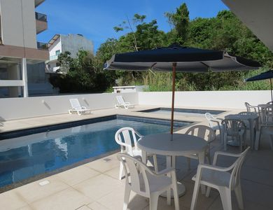 Photo for Apartment 50 meters from the sea! 4 people! Pool, barbecue and balcony!
