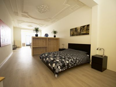Large apartment with parking, 50 meters from the beach