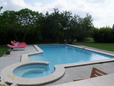 Photo for Traditional Provencal farmhouse for 8 people with pool and SPA 11900 m²