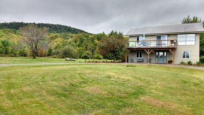 The Mountain House on 10+ private acres with 2+ acre fresh water pond, &  beautiful views