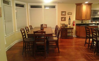 Dinning Room off the Kitchen sits 8