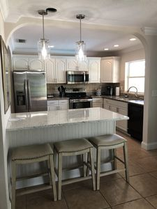 Kitchen... island seating for three