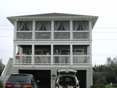 Photo for Charming, upscale, coastal cottage, ocean 1.5 blks, private beach, pool, tennis