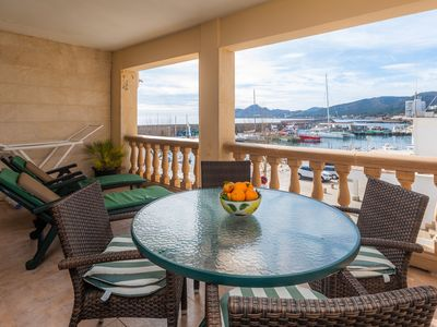 Photo for Holiday Apartment Maritim with Sea View, Mountain View, Wi-Fi & Terrace; Street Parking Available