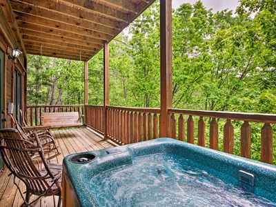 Photo for NEW! Mountain Cabin w/ Game Room - 3 Mi to Dtwn!