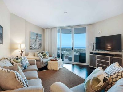 Photo for Gulf & PoolViews From This Gorgeous 9th Floor Unit At The Palms Of Destin.  Free Dolphin Cruise!!