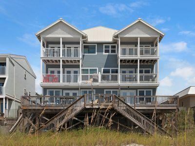 Photo for GORGEOUS Destin Beach Front Gulf Front home! Private Beach shared by four units!