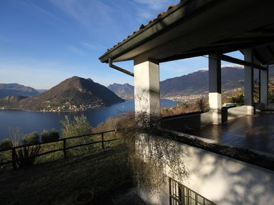 Photo for Villa private breathtaking view of Lake Iseo - Sulzano