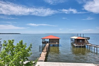 This stunning waterfront home has everything you need for a large-group retreat.