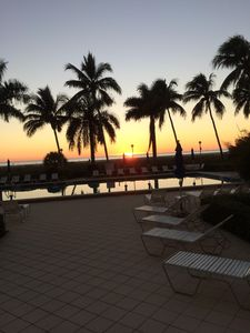 A typical Marco Island sunset at poolside