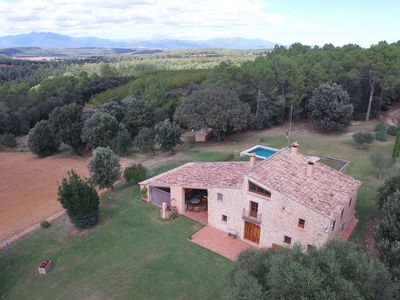 Photo for Catalan farmhouse with private pool with a fantastic landscape and environment