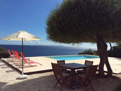Photo for LA PALOMA- Villa with spectacular views 150 meters from the beach and private pool. BBQ. Cala Pi - Free Wifi