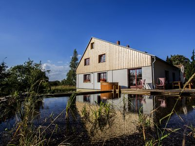 Photo for Detached house with private swimming pond and sauna in Nordbohmen