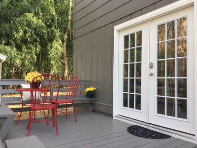 Have your morning coffee or breakfast on the front porch