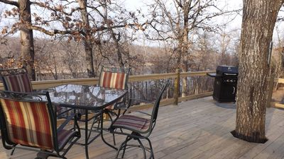 Deck overlooking Little Sister arm of bull shoals lake