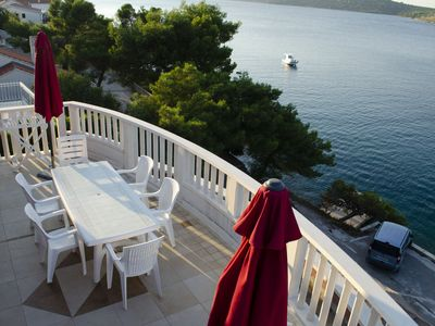 Photo for SEAFRONT!Luxury apartment with a breathtaking sea view and PRIVATE BEACH