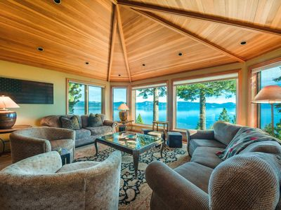 Photo for NEW! Luxury Lakefront 7-Bdr Estate, Walk to Hikes in Carnelian Bay: Grandview Retreat