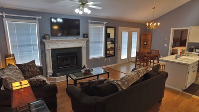 Living Room With Flat Smart TV